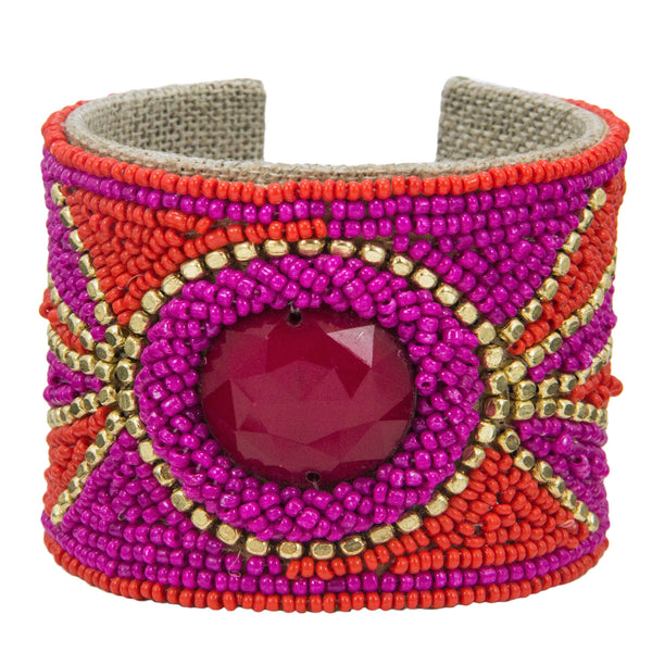Solstice Devi Cuff in Masai Red