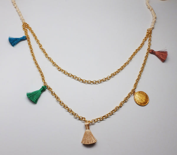 Charming Necklace in Gauze & Gold