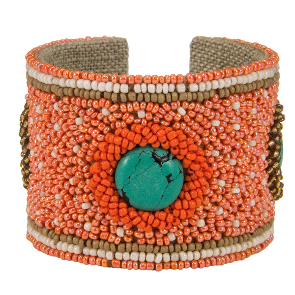 Tiffany Devi Cuff in Naples Orange