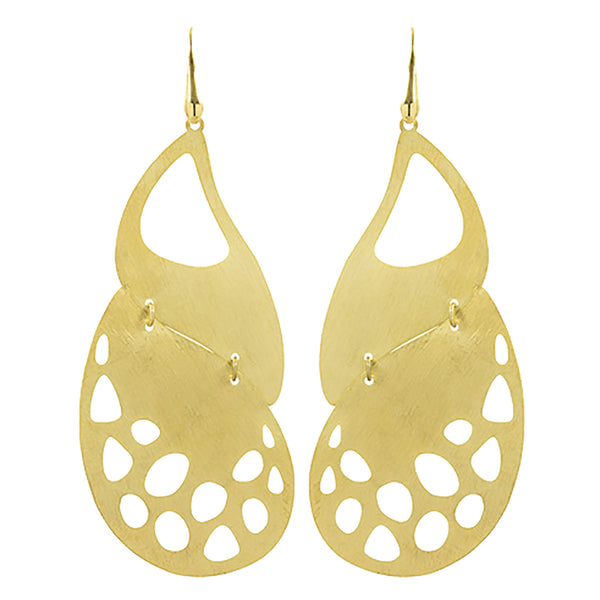 Simona Earrings in Soft Brass