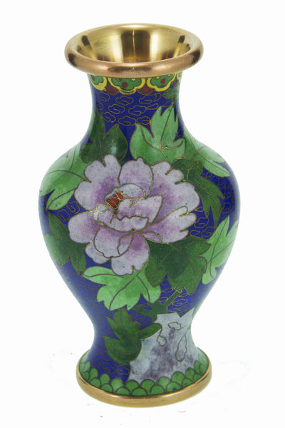 Blue and Flower Asian  Vase