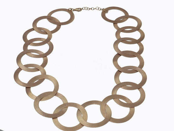 Circo Collar Necklace in Muted Rose Gold