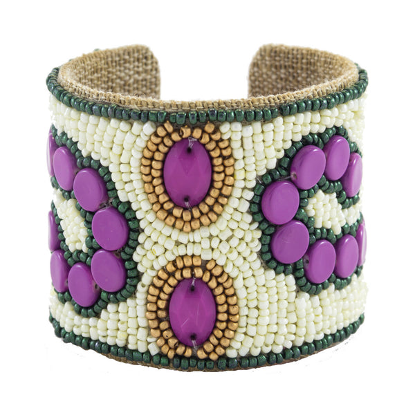 Arte Moderne Devi Cuff in Charleston Green & Boysenberry