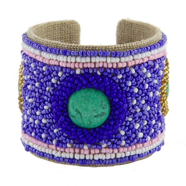 Tiffany Devi Cuff in Royal Periwinkle