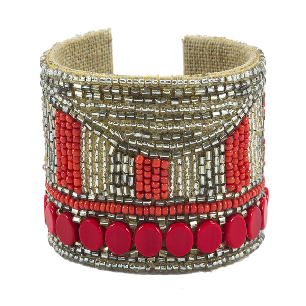 Disco Dot Devi Cuff in Bubbly & Fire