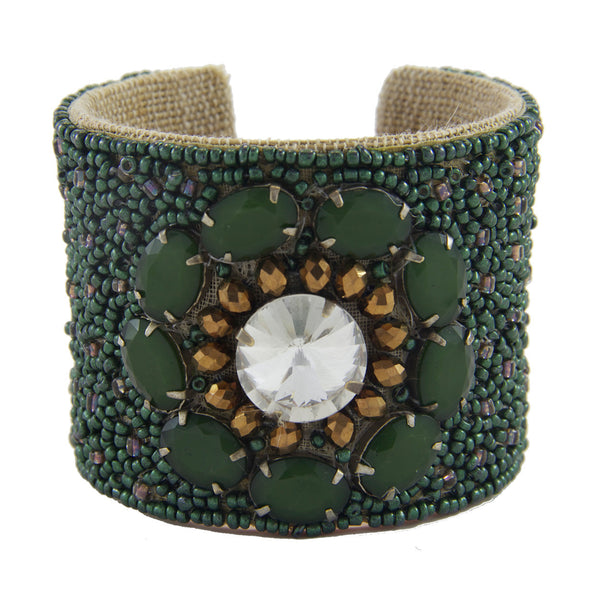Arte Nouveau Devi Cuff in Deep Fatigue