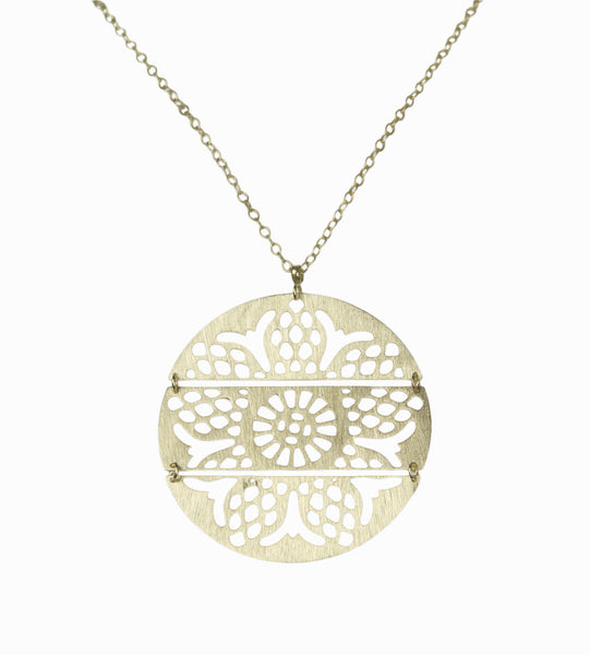 Fernandina Pendant in Soft Brass