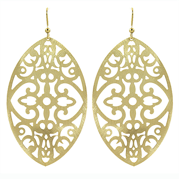 Belloza Earring in Soft Brass