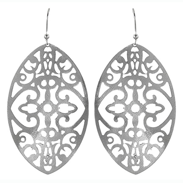 Belozza Earring in Sanded Silver