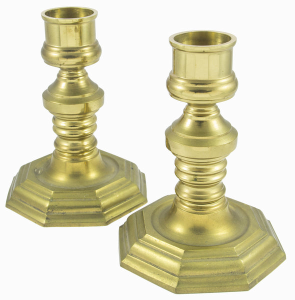 Brass Candle Stick Pair