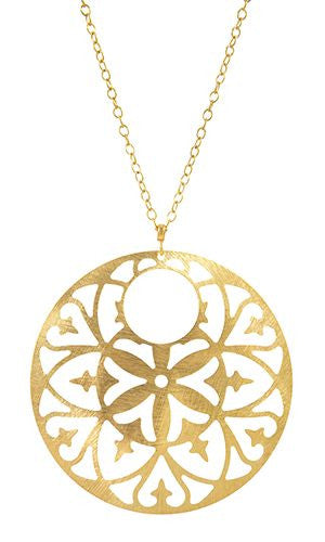 Fransisca Pendant in Soft Brass
