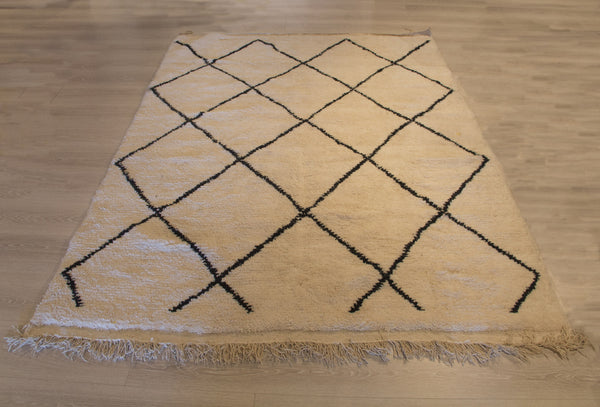 Vanilla and Black Diamond Rug