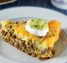 Load image into Gallery viewer, CRUSTLESS TACO PIE (low carb) keto friendly