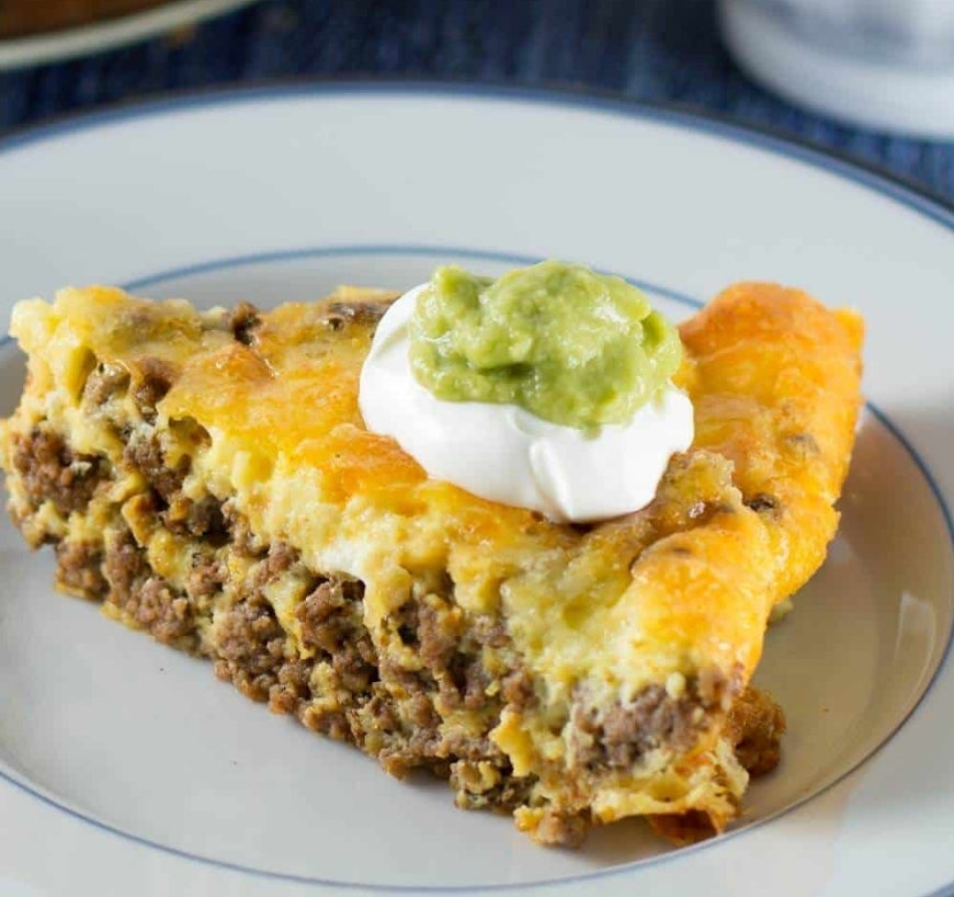 CRUSTLESS TACO PIE (low carb) keto friendly