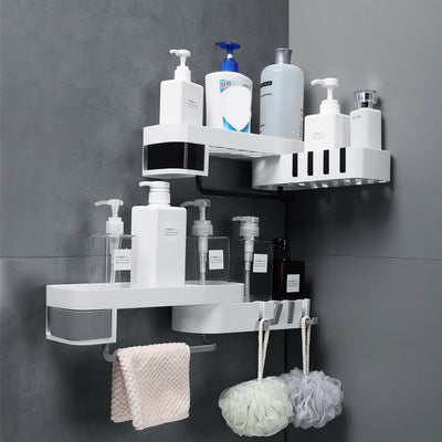 Corner Shower Shelf Seamless Rotating Tripod