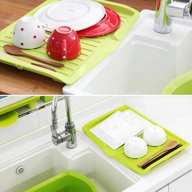 Multifunction Drain Rack Kitchen Plastic Dish Drainer