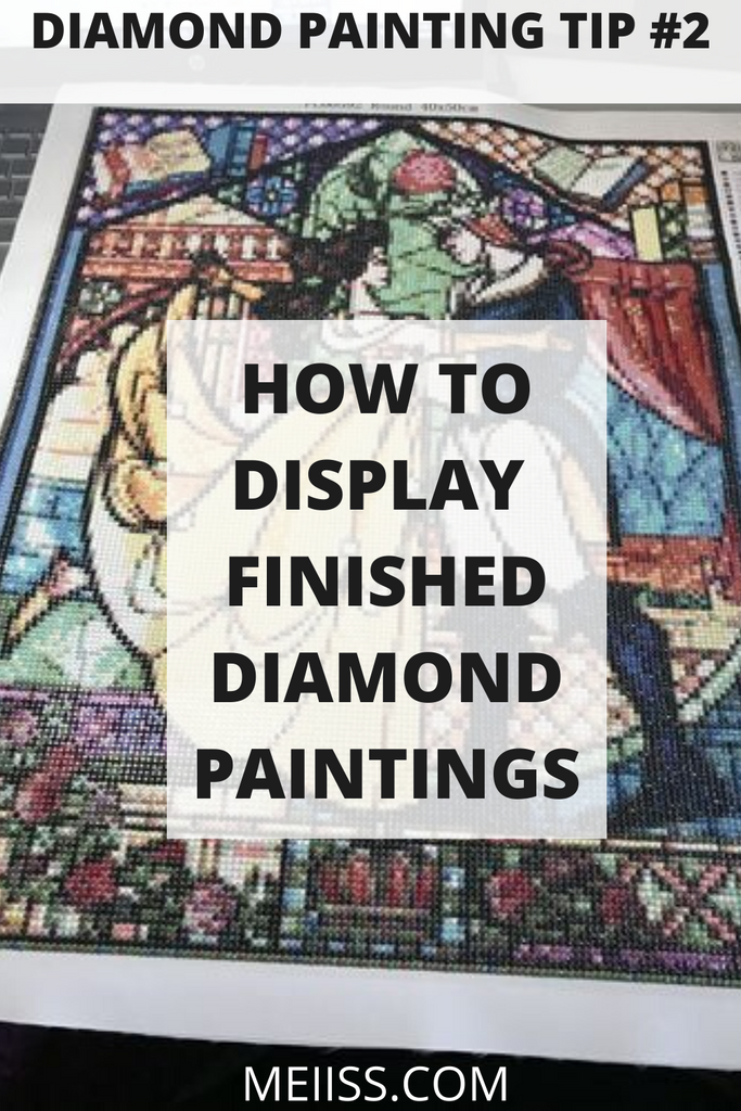how to display finished diamond painting
