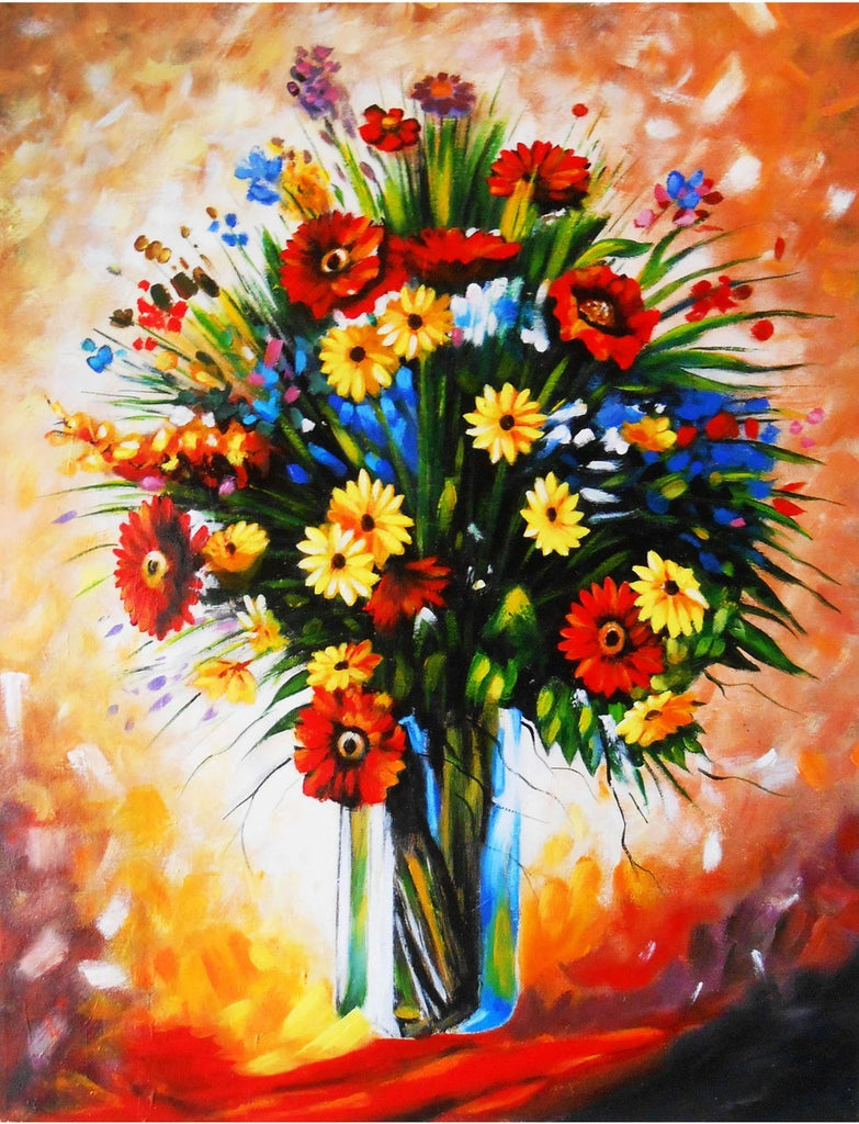 Beautiful and Realistic Vase with Flowers Diamond Painting Kit - Paint By Diamonds