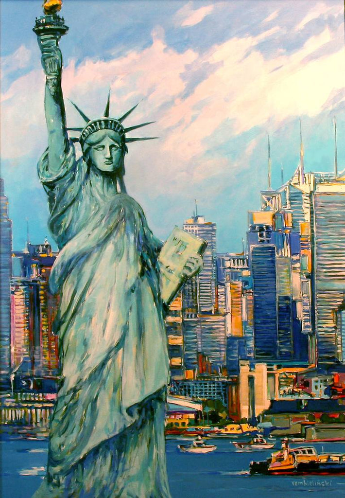 Awesome Statue Of Liberty Diamond Painting Kit - Paint By Diamonds