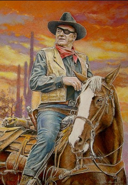 Americas Cowboy John Wayne Diamond Painting Kit - Paint By Diamonds
