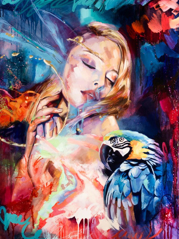 Amazing Girl And Parrot Diamond Painting Kit - Paint By Diamonds