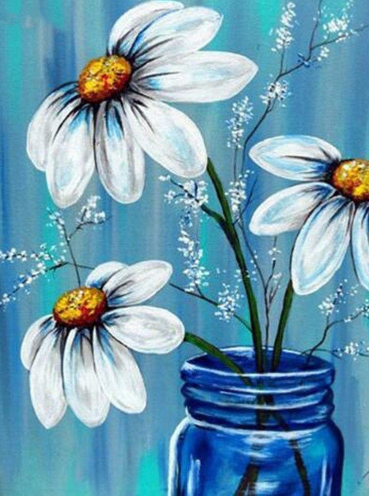 Chamomile Diamond Painting Kit - Paint By Diamonds