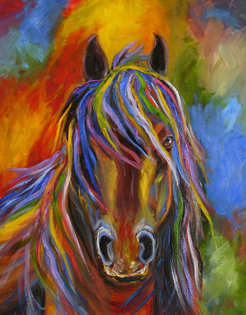 Awesome Colorful Horse Diamond Painting Kit - Paint By Diamonds