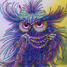 Load image into Gallery viewer, Sleppy Owl Diamond Painting Kit - MEIISS DIAMOND PAINTING