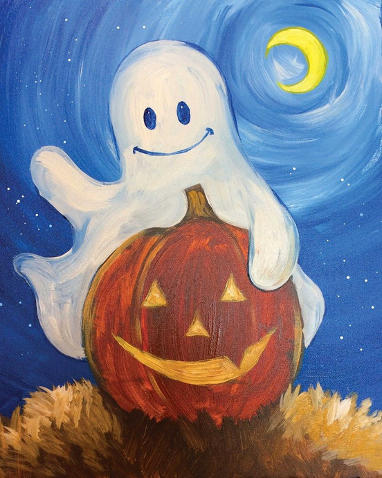 Halloween Pumpkin And Ghost Diamond Painting Kit - MEIISS DIAMOND PAINTING