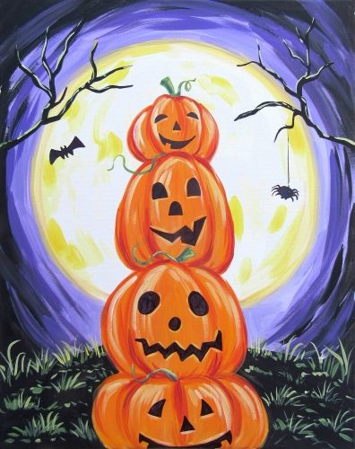 Halloween Pumpkin and Moon Diamond Painting Kit - MEIISS DIAMOND PAINTING
