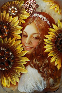 Girl With Sunflowers Diamond Painting Kit - MEIISS DIAMOND PAINTING