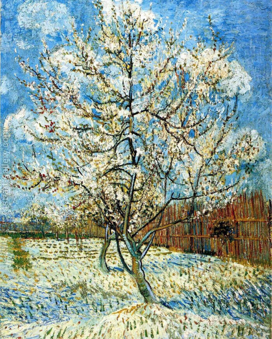 Vincent Van Gogh Pink Peach Tree Diamond Painting Kit - MEIISS DIAMOND PAINTING