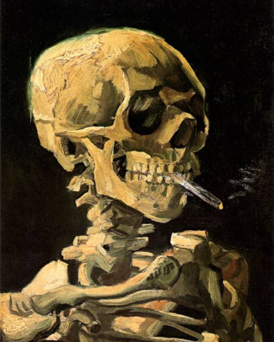 Vincent Van Gogh Skull with Burning Cigarette Diamond Painting Kit - MEIISS DIAMOND PAINTING