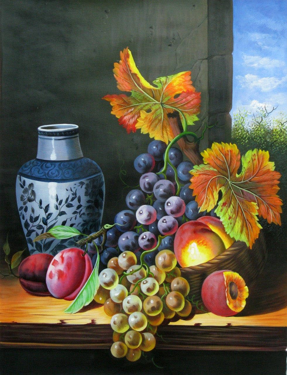 Awesome Grapes and Peach Diamond Painting Kit - MEIISS DIAMOND PAINTING