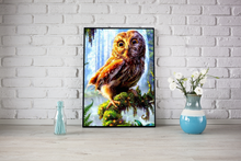 Load image into Gallery viewer, Colorful Owl In Forest Diamond Painting Kit - MEIISS DIAMOND PAINTING