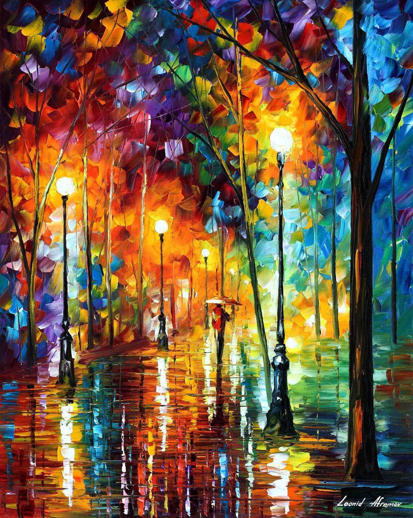 Late Evening Strolls By Leonid Afremov Diamond Painting Kit - Paint By Diamonds