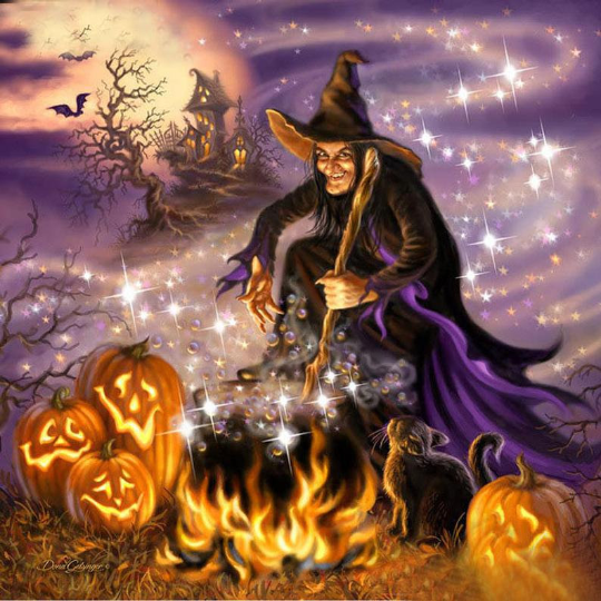 Halloween Magic Witch Diamond Painting Kit - Paint By Diamonds