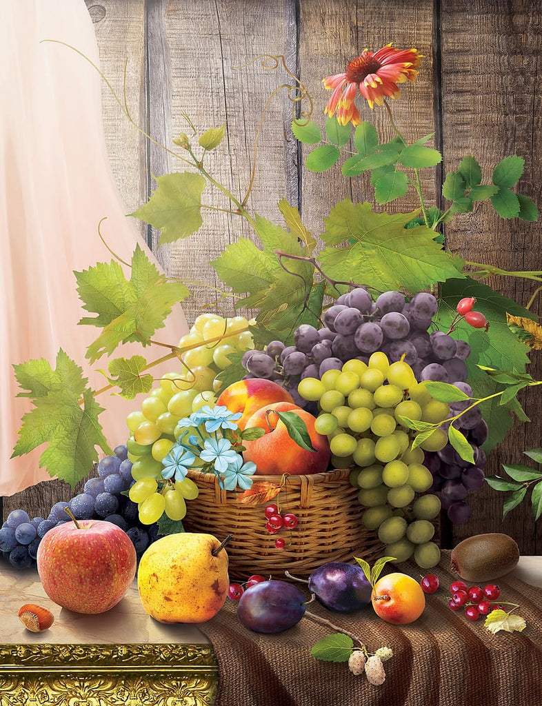 Awesome Basket With Fruits Diamond Painting Kit - Paint By Diamonds