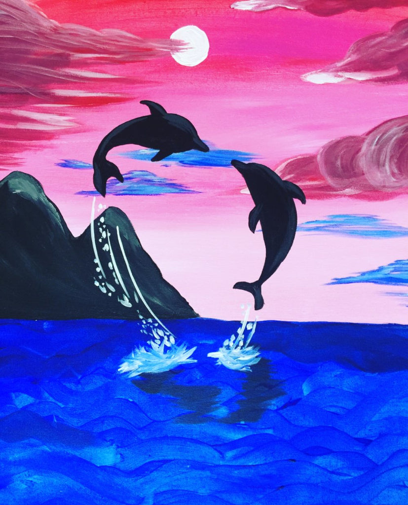 Dolphin Dreams Diamond Painting Kit - Paint By Diamonds