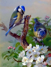 Load image into Gallery viewer, Colorful Sparrow Sitting On Tree Diamond Painting Kit - MEIISS DIAMOND PAINTING