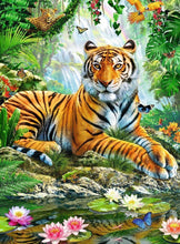Load image into Gallery viewer, Tiger In The Jungle Diamond Painting Kit - MEIISS DIAMOND PAINTING