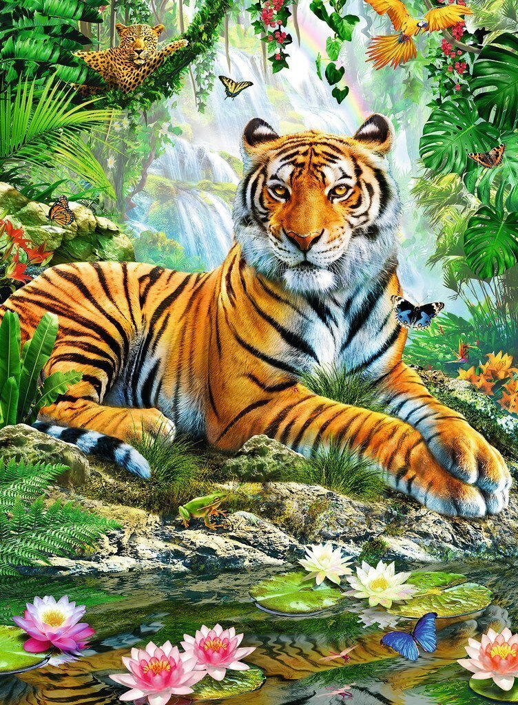 Tiger In The Jungle Diamond Painting Kit - MEIISS DIAMOND PAINTING