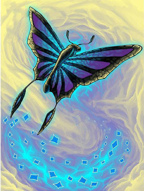 Awesome Electric Butterfly Diamond Painting Kit - Paint By Diamonds