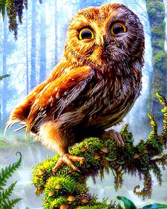 Colorful Owl In Forest Diamond Painting Kit - MEIISS DIAMOND PAINTING