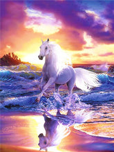 Load image into Gallery viewer, Horse in Purple Diamond Painting Kit - MEIISS DIAMOND PAINTING