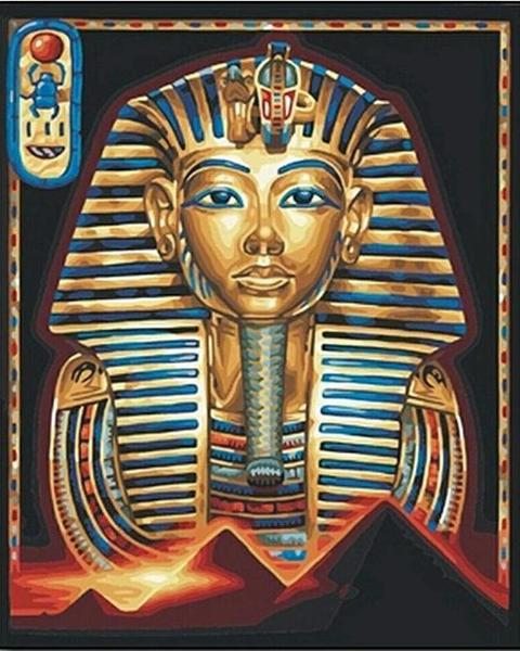 Tutankhamen Egyptian Sunset Painting Diamond Painting Kit - Paint By Diamonds