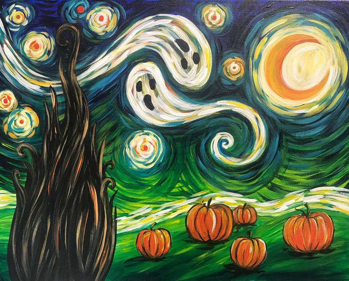 Halloween Van Gogh's Starry Night Diamond Painting Kit - MEIISS DIAMOND PAINTING