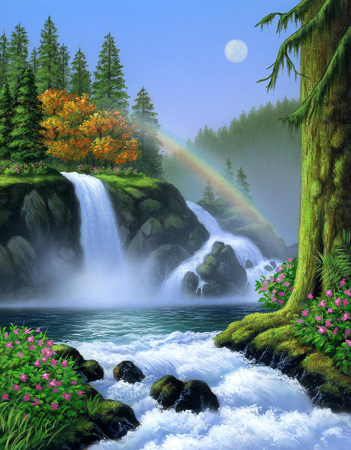 Nature Waterfall Diamond Painting Kit - Paint By Diamonds