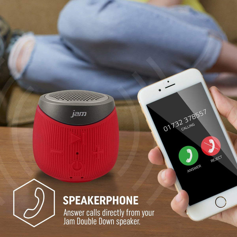 JAM Double Down Mono Portable Speaker - Red