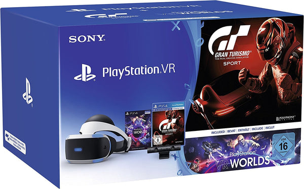 PS4 Virtual Reality Bundle - Gran Turismo Sport & VR Worlds